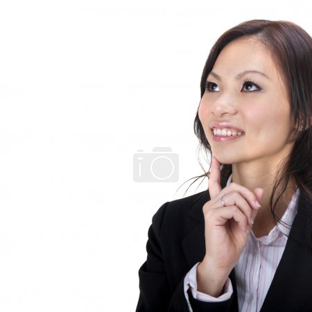 Photo for Asian business women having thought - Royalty Free Image
