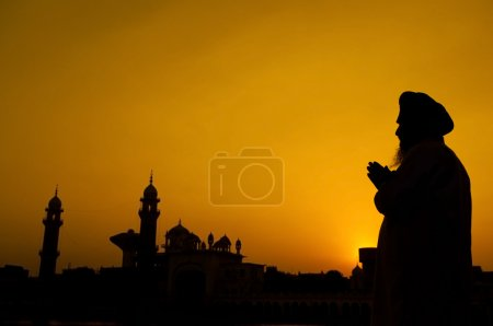 Silhouette of Sikh prayer