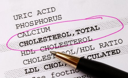 Focus on the cholesterol in a blood test report co...