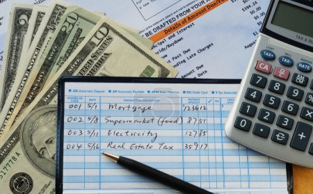 Write some checks to make payments for household e...