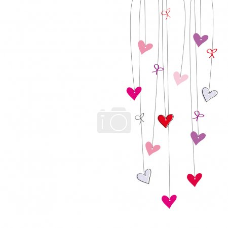 Illustration for Cute postcard on special day - Royalty Free Image