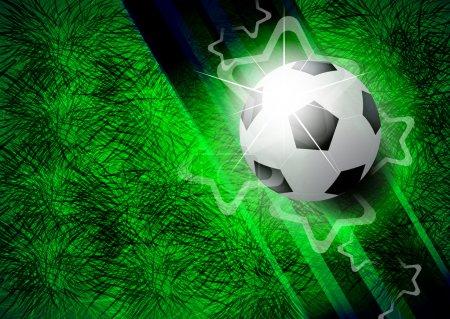 Illustration for Modern football background - Royalty Free Image