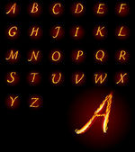 ABC Fire letters Vector illustration
