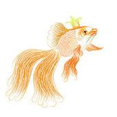 Gold fish vector