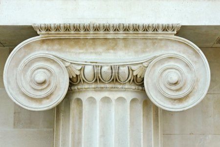 Photo for Detail of Ionian column traditional Greece architecture - Royalty Free Image