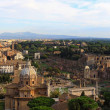 Panoramic view of old city Rome and colloseum...