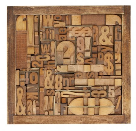 Letterpress printing blocks abstract