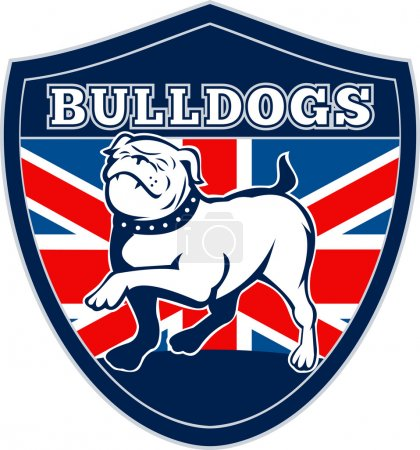English bulldog british rugby sports team mascot