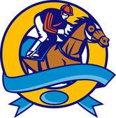 Pferd und Jockey racing