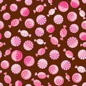 Pink striped candy seamless pattern