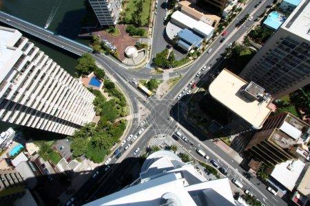 Photo pour Vue depuis un immeuble de grande hauteur à Surfers Paradise Australie - image libre de droit