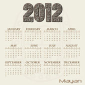 Image of a Mayan themed 2012 calendar
