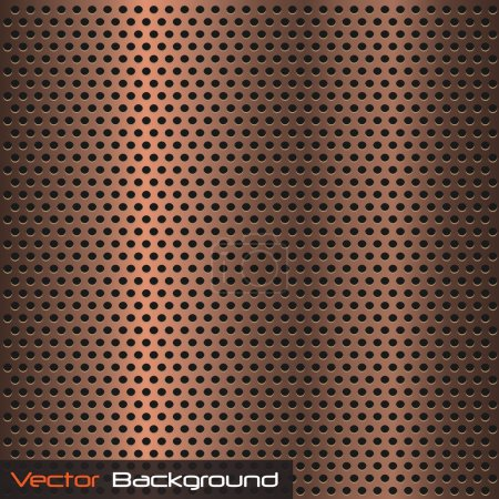 Illustration for Vector image of a metallic copper background texture. - Royalty Free Image