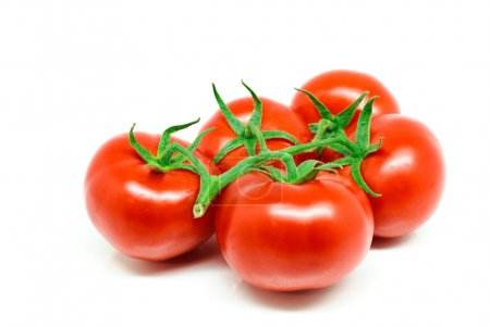 Fresh red tomatoes isolated on white background....