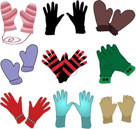 Gloves - ilustracaja Vector...