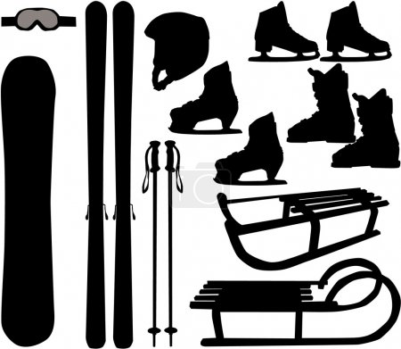 Winter sports - vector icons