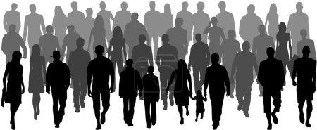 Illustration for Crowd, vectors work- illustration - Royalty Free Image