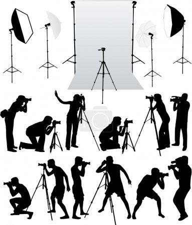 Illustration pour Accessoires photo - équipement studio, travailler avec des vecteurs - image libre de droit