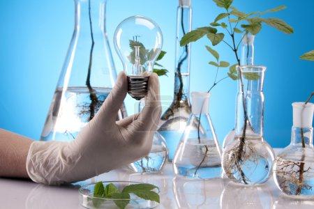 Photo pour Laboratoire écologique, nouvelle source d'énergie! - image libre de droit