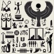 Ancient Egyptian symbols and signs.Collection of d...