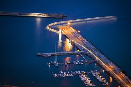 Porto Santo Harbor by night