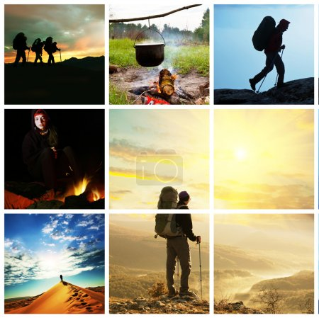 Photo for Hiking collage - Royalty Free Image