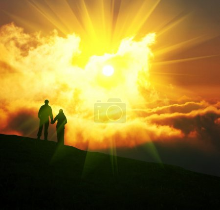 Photo for Couple on sunset - Royalty Free Image