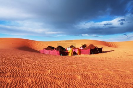 Camp in desert