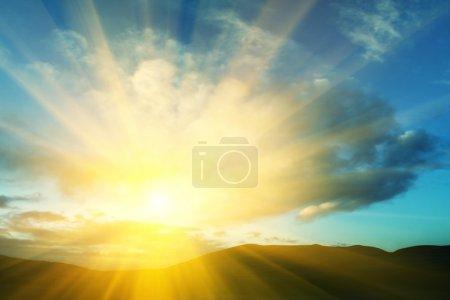 Desert on sunrise