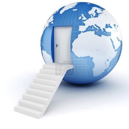 3D Erde Globus Konzept