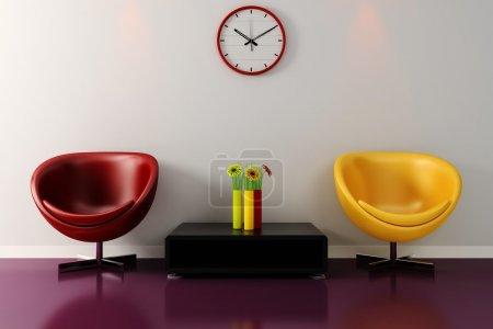 Photo pour 3d rendu d'un design d'intérieur moderne - image libre de droit