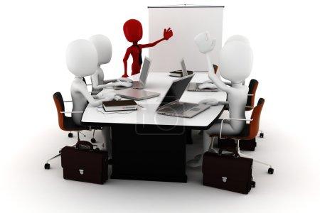 3d man business meeting
