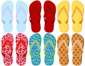Set of 6 Colorful Sandals