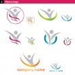 Set of fitness and social logo...
