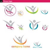 Set of fitness and social logo