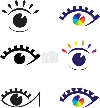 Illustration for Icons of eyes. Element for design vector illustration. - Royalty Free Image