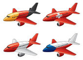 Airbuses in national flags colors