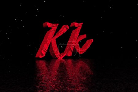 Photo pour Lettre k rouge - image libre de droit