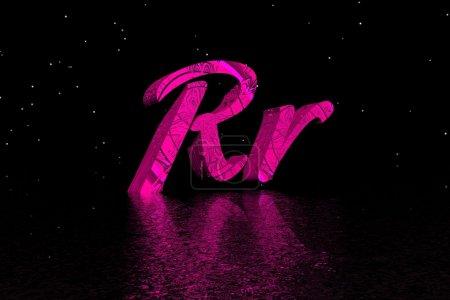 Photo pour Lettre r de rose - image libre de droit