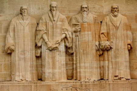 Reformation Wall in the Bastions Park, Geneva, Swi...