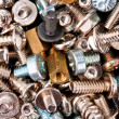 Close-up of various screws. Use for background...