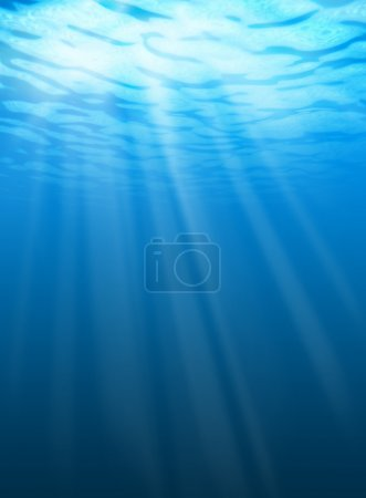 Photo for Blue water ripples underwater. Texture of background - Royalty Free Image
