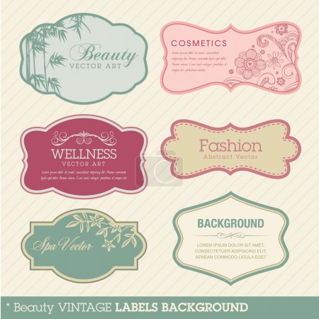 Illustration for Set of vector vintage labels - Royalty Free Image