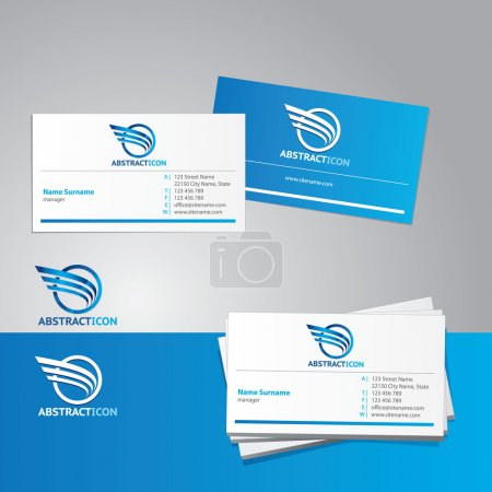 Photo for Business card vector template - Royalty Free Image