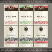 Vector illistration - set of wine label templates