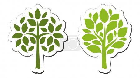Vector tree emblem 2