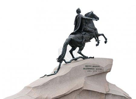 """Photo pour Monument de l'empereur russe Pierre le Grand, connu sous le nom de """"Cavalier de bronze"""", à Saint-Pétersbourg, Russie . - image libre de droit"""