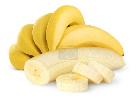 Foto de Plátanos maduros aislados en blanco - Imagen libre de derechos