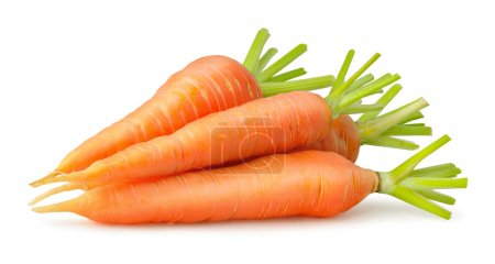 Photo for Heap of carrots isolated on white - Royalty Free Image