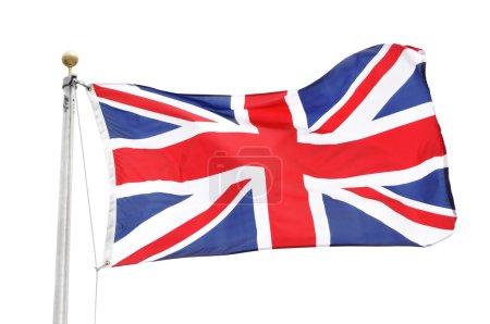 Photo pour Le drapeau de great britian isolé sur blanc - image libre de droit